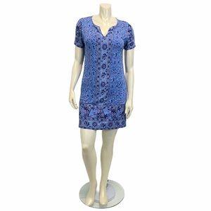 LUCKY BRAND Blue Tunic Medium Dress